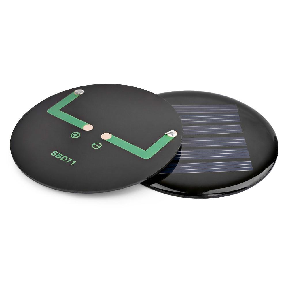 SUNYIMA 2Pcs Mini Portable Painel Solar Panels China D71mm 3V 80mA Kit Solar Charger Panel Paneles Solares DIY Batterie Solaire