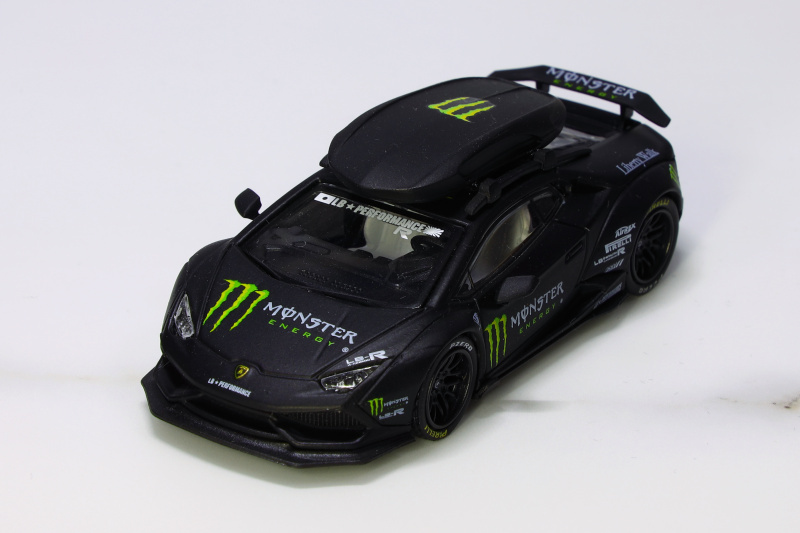 JEC 1:64  LB Performance Lambo Huracan LP610 Black Diecast Model Car