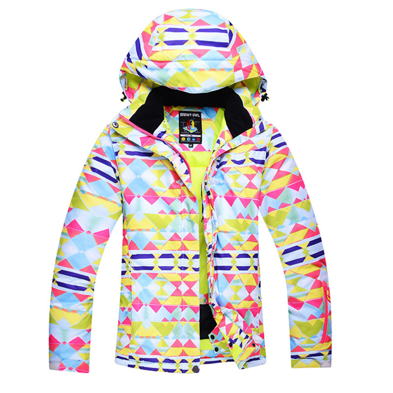 Hot  Arctic Queen Brand Waterproof Windproof And Warm Fabric Jacket Women's Skiing And Snowboard Jacket 2 Color Size S To XL