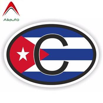 Aliauto Fashion Car Sticker Funny Cuba Country Code Flag Vinyl Decal Cover Scratches for Octavia Gti Chevrolet Bmw X6,16cm*11cm aliauto funny car sticker