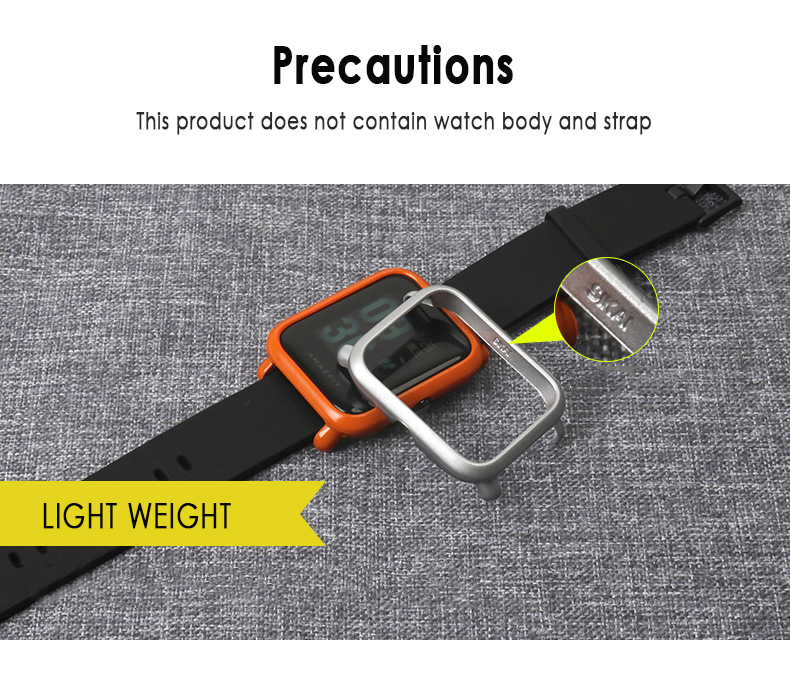 Screen Case For Huami Amazfit Bip Younth Watch Slim Colorful Frame PC Protect Shell Watch Accessories Wrist Strap Case Cover
