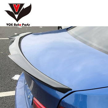 F82 M4-style Carbon Fiber Rear Trunk Wing Spoiler for BMW 4 Series M4 F82 2-door Coupe Trunk Car Boot Lip 2014-2020 image