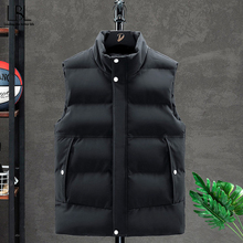 Vest Men Jacket Winter Outwear Waistcoat Zipper-Pockets Warm Male Thick Casual Sleeveless