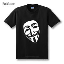shubuzhi New Funny Pharaoh Vendetta T Shirt Men V for Vendetta Mask TShirt Short Sleeve O Neck T-shirt XS-2XL(China)