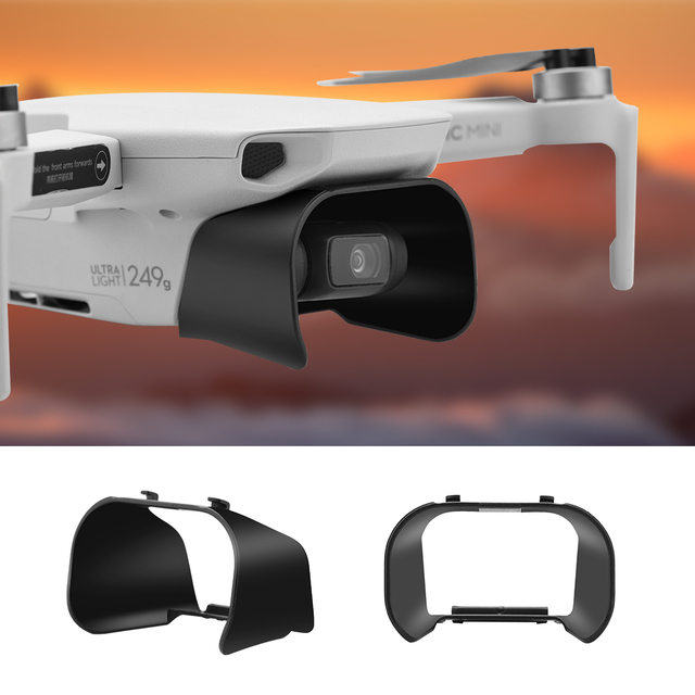 レンズフードアンチグレアジンバルカメラガードレンズカバーサンシェード保護カバーdji mavicミニ/ミニ2ドローンアクセサリー