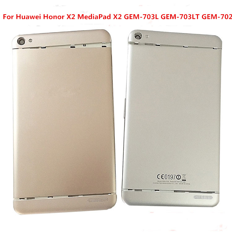 Back <font><b>Battery</b></font> Cover Housing Door For Huawei Honor <font><b>X2</b></font> <font><b>MediaPad</b></font> <font><b>X2</b></font> <font><b>GEM</b></font>-703L <font><b>GEM</b></font>-703LT <font><b>GEM</b></font>-<font><b>702L</b></font> Rear Case Replacement image