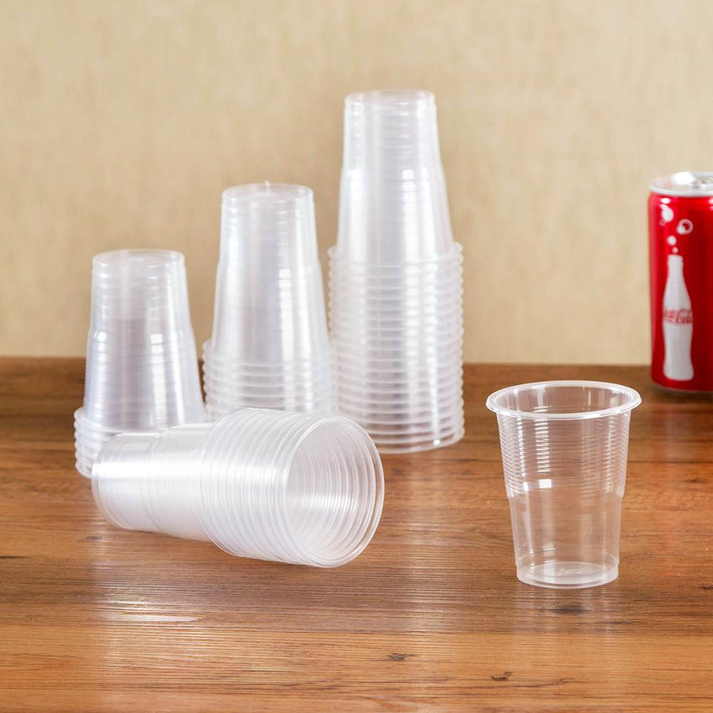 OTHERHOUSE 50Pcs Clear Plastic Disposable Cups Party Shot Glasses Jelly Ice Cream Cups Birthday Tumblers