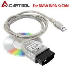 Para bmw inpa k + pode k pode inpa com ft232rl chip inpa k dcan interface usb mais 20pin para 16pin obd2 adaptador conector para bmw
