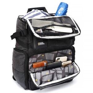 Image 1 - 내셔널 지오그래픽 NG W5072 가죽 카메라 가방 배낭 디지털 비디오 카메라 여행 가방에 대 한 대용량 노트북 운반 가방