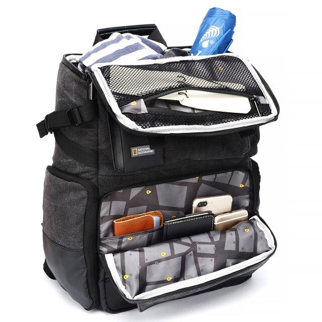 내셔널 지오그래픽 NG W5072 가죽 카메라 가방 배낭 디지털 비디오 카메라 여행 가방에 대 한 대용량 노트북 운반 가방