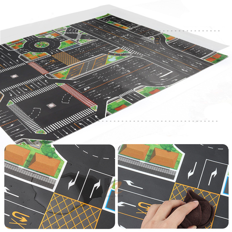 Waterproof Traffic Play Mat Waterproof - Foldable Road Map For Crawling Babies Best Children's Lighting & Home Decor Online Store