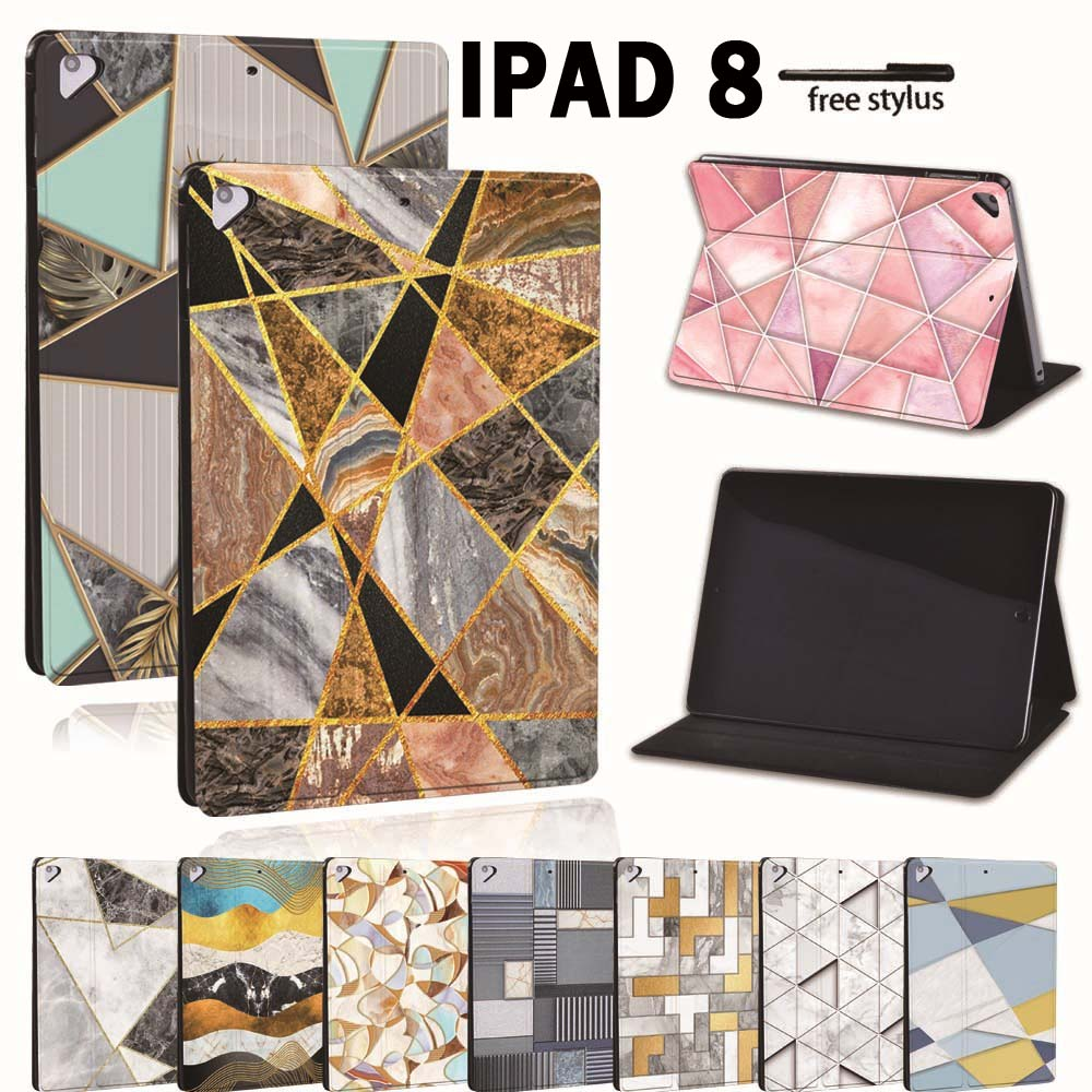 For Apple iPad 8 10 2 2020 8th 8 Generation A2428 A2429 PU Leather Tablet Stand