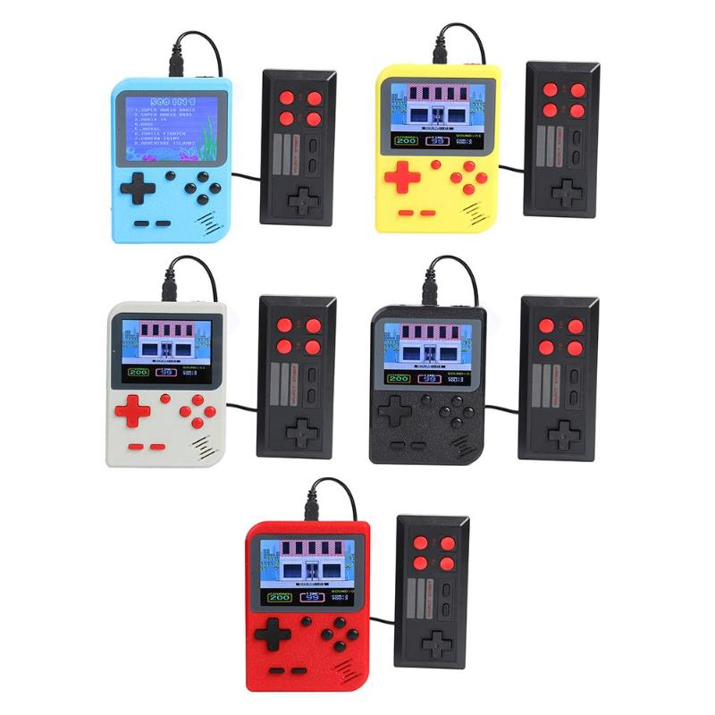 GC26 Video Game Console Retro Mini Game Player With Gamepad Built-in 500 Games 8 Bit 3 Inch Handheld Game Console Dropshipping