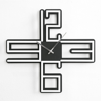 Creative Acrylic Wall Clock Modern Design Living Room Decoration Unique Wall Hanging Nordic Wooden Clocks Wall Watch Home Decor