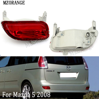 MZORANGE Car Tail Red Reflector Warning Decorative Light Rear Bumper Fog Lamp For Mazda 5 2008 Without Bulb Brake Stop Light