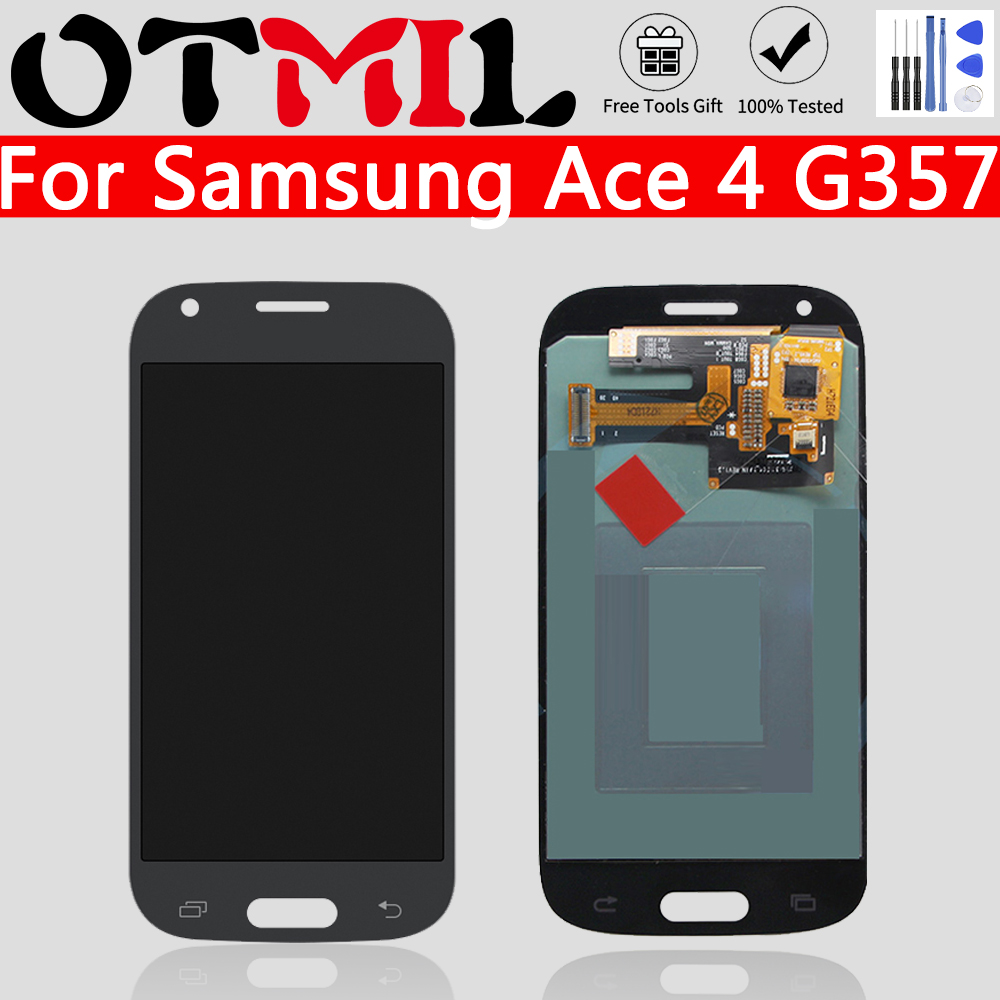 OTMIL AMOLED 4.3'' For Samsung Galaxy Ace 4 LCD Display Touch Screen Assembly Digitizer For Samsung Ace 4 SM-G357 G357FZ LCD