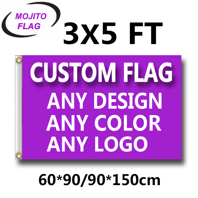 3'x5' Custom Banner Flags 3x5FT Flying 100D Polyester - Advertising Banner Outdoor Indoor Any Size/Logo/ Pictures -Free Shipping