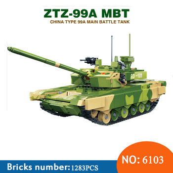 Blocks Toy technic Toy Military Ztz 99a Mbt Battle Tank Ww2 Soldiers Army War Building Blocks Toys New 6103 1283pcs For Children