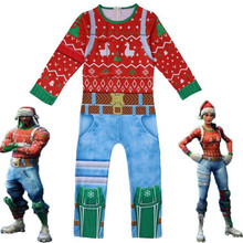 Kids Children Game Nog Ops Yuletide Ranger Cosplay Costume Zentai Bodysuit Suit Jumpsuits Christmas