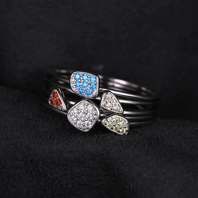 Infinity Stones Sterling Silver Ring