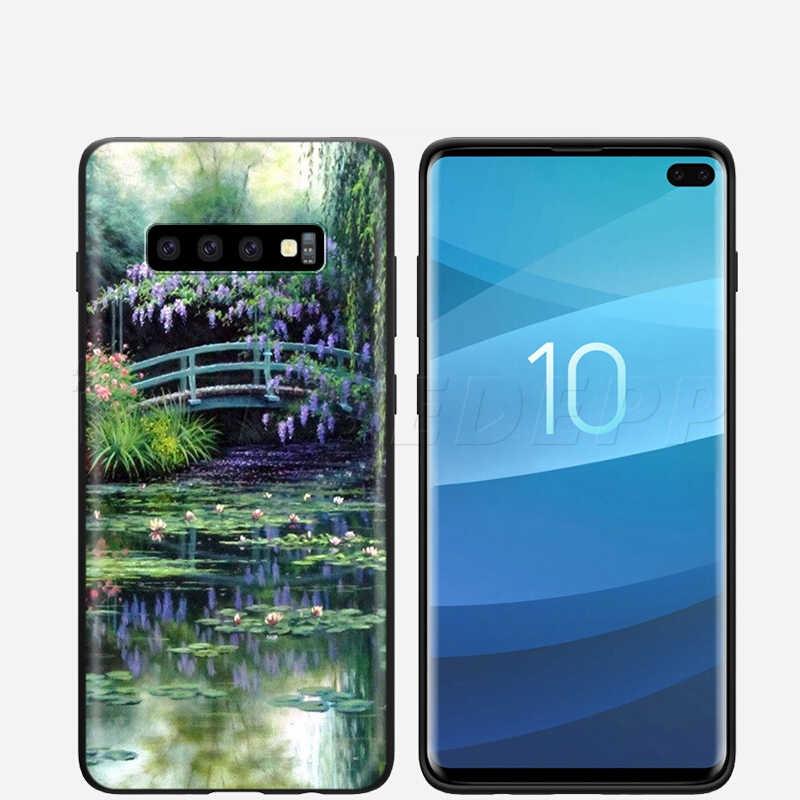 Webbedepp Monet Giardino di Loto per il Caso di Samsung Galaxy S7 S8 S9 S10 Più Il Bordo Nota 10 8 9 A10 A20 a30 A40 A50 A60 A70