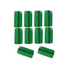 10 adet PKCELL 2/3AA 1.2V NiMh şarj edilebilir pil 650mAh 1.2V düz üst kondansatör kalemler, çizim kalemleri