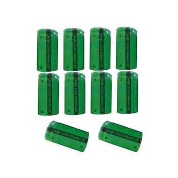 10 szt PKCELL 2 3AA 650mAh NiMh akumulator 1 2V płasko zakończony tanie i dobre opinie 2 3 aa nimh battery Ni-mh 700 mAh Baterie Tylko Flat Top