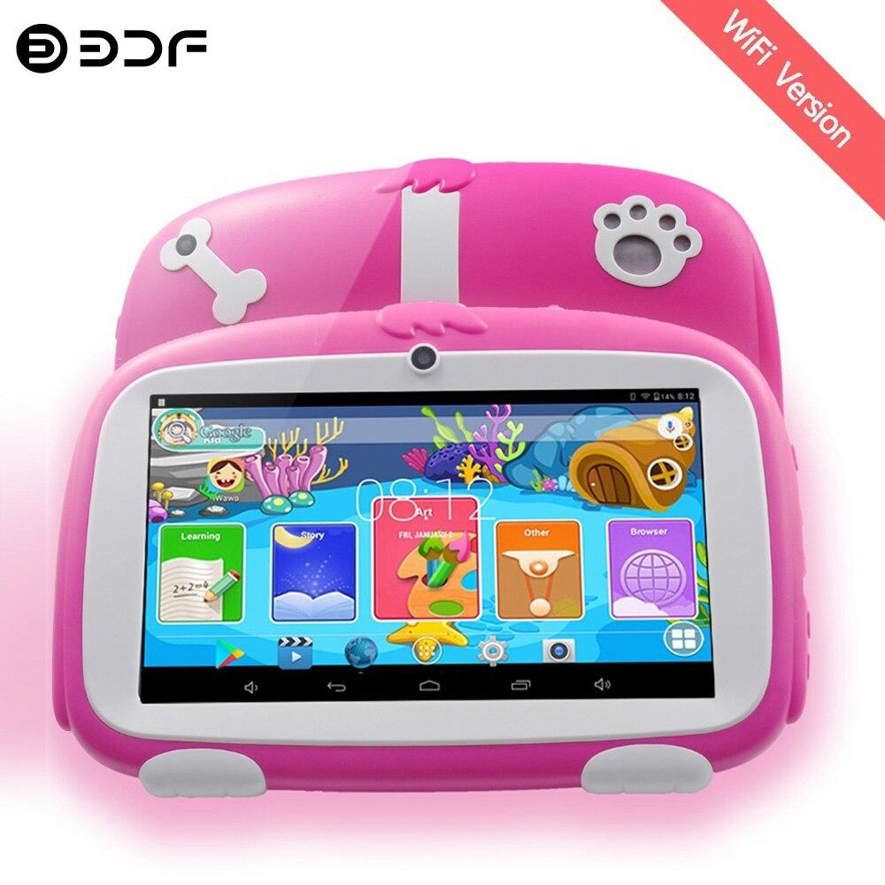 Новые детские планшеты 7 дюймов четырехъядерный Android 8,0 Google Market WiFi Bluetooth 16 Гб Двойная камера любимые детские подарки планшетный ПК
