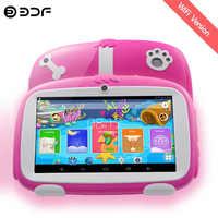 Nuevas tabletas para niños de 7 pulgadas Quad Core Android 8,0 Google Market WiFi Bluetooth 16GB de doble cámara regalos favoritos de los niños Tablet Pc