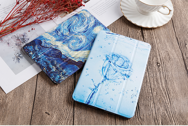 For Gen 10.2 Cover leather QIJUN For 2020 Stand iPad Case PU iPad inch Painted Flip 8th