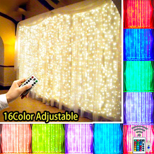 Curtain Lights Fairy Lights Garland Remote Control USB String Lights Garland on The Window Christmas Decorations for Home
