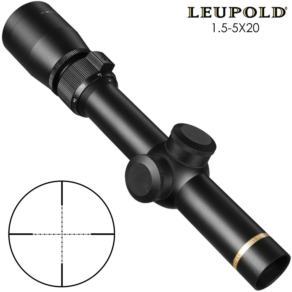 Leupold 170675 1.5-5x20mm VX-3i Duplex Reticle Rifle Scope