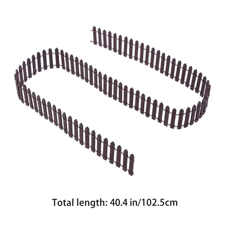 100 سنتيمتر x 5 سنتيمتر صغيرة صغيرة الخشب سياج لتقوم بها بنفسك منزل مصغر الجنية حديقة مايكرو وعاء النبات ديكور بونساي تررم حلية (القهوة)
