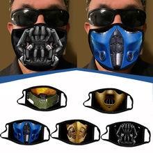 1PC drôle imprimé bouche masques lavable réutilisable masque facial adulte hommes femmes plein air masque universel Durable respiration filtres
