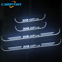 Car-Light Dynamic Gt-Line Peugeot 208 Welcome-Lamp Door-Sill Pathway 4pcs Moving LED