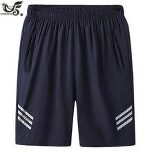 Дышащие быстросохнущие бермуды размера плюс 7XL,8XL, мужские повседневные шорты, пляжные шорты для спортивной одежды, спортивные штаны