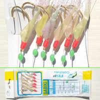 100 パック 10 #12 #14 #16 #18 #20 # 海低音 ribbonfish サビキリグエビサビキリグソフトルアー強力な釣りフック