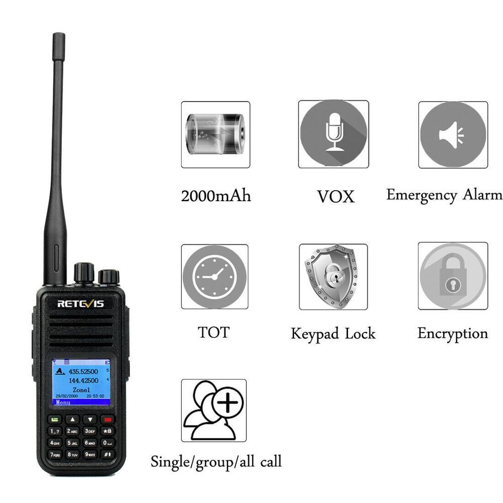 Ailunce HD1 UHF//VHF Dual Band Scan DMR Digital DCDM TDMA Emergency 2WAY Radio