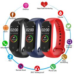 M4 Smart Watch Bluetooth Sport Bracelet  Tracke ip67 Waterproof  Wristband Heart Rate Step Exercise Portable Call Watch Fitness