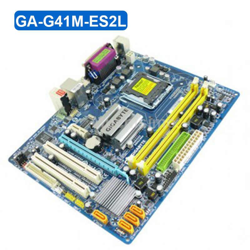 GIGABYTE GA-G41M-ES2L سطح المكتب اللوحة الأم G41 المقبس LGA 775 G41M-ES2L ل Core 2 DDR2 8G مايكرو ATX الأصلي تستخدم اللوحة الرئيسية