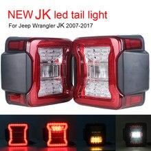 Luminária led automotiva, lâmpada traseira para jeep wrangler jk 2007-2017 luzes de corrida