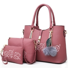 3pcs Leather Bags Handbags Women Famous Shoulder Bag Female Casual Tote Messenger Set