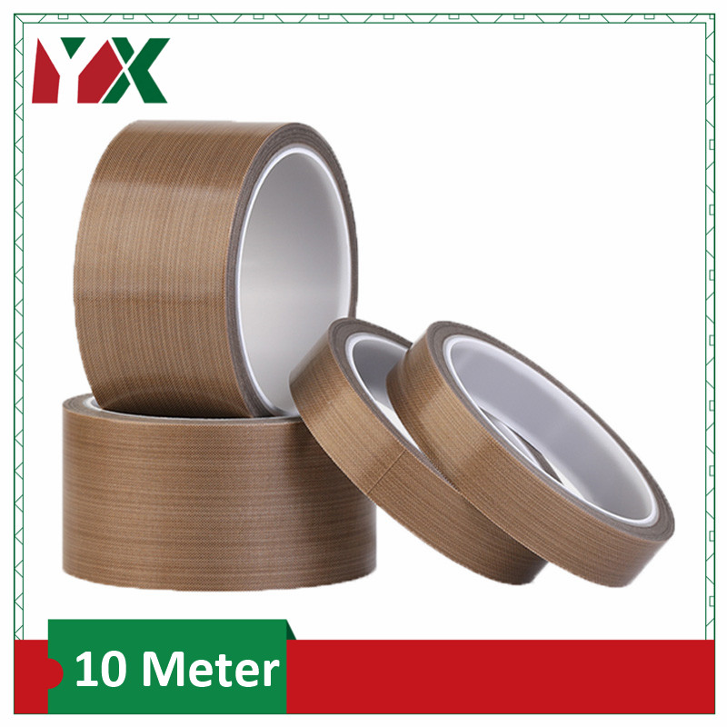 PTFE Tape High Temperature 300 Degree Insulation Cloth Tape Vacuum Sealing Machine Insulation 0.13mm 0.18mm 10 Meters