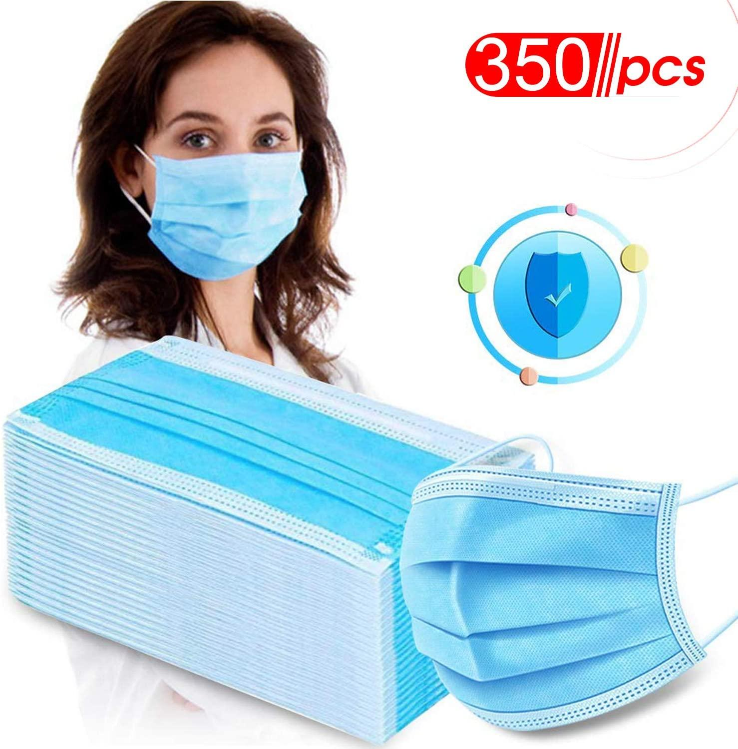 300 Pcs Spot 3 Laye Mask Dust Protection Mouth Mask Disposable Face Mask Elastic Ear Loop Dust Filter Safety Masks
