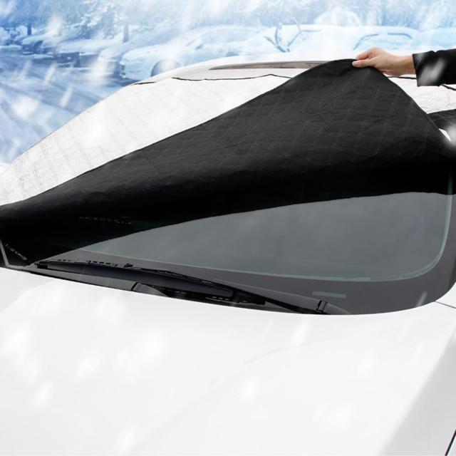 240*190cm Magnetic Car Windshield Snow Cover Tarp Winter Ice Scraper Frost Dust Guard Sunshade Protector Protector Heat Sun Mat 1