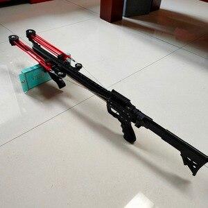 Высокое качество десятое издание полуавтоматическая 40BB Рогатка винтовка Тяговая Резиновая лента амуниция стрелы мяч базовое издание