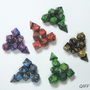 7 Shapes Dice Fillet Square Triangle Dice Mold Dice Digital Game Silicone Mould