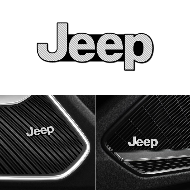 4pcs speaker aluminum 3D sticker horn sound letter stickers for Jeep Wrangler car styling