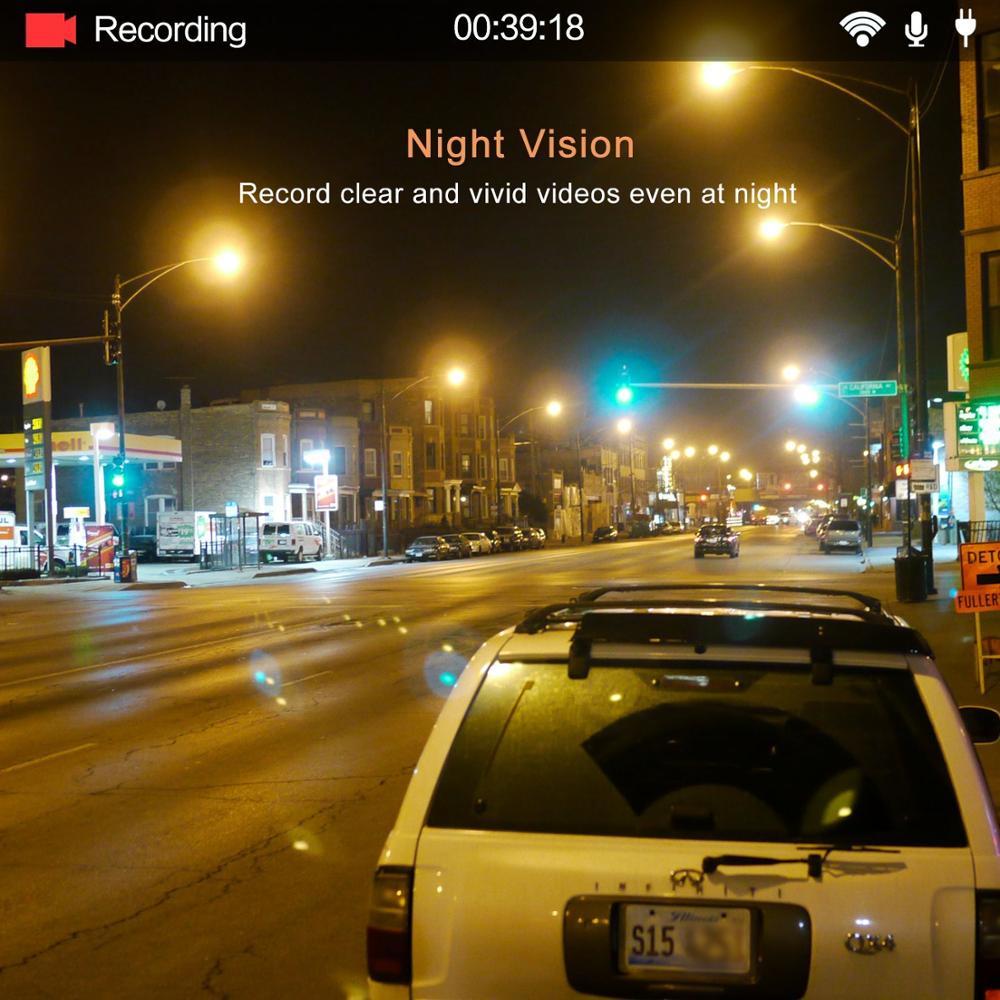 Yi ultra dash câmera com 16g cartão 2.7 k resolução a17 a7 chip de núcleo duplo controle de voz sensor de luz de 2.7 polegadas widescreen - 5