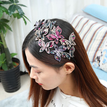 butterfly head hoop, wide with teeth, hairpin temperament, large head ornament 2020 new women lady headband hair hoops holder